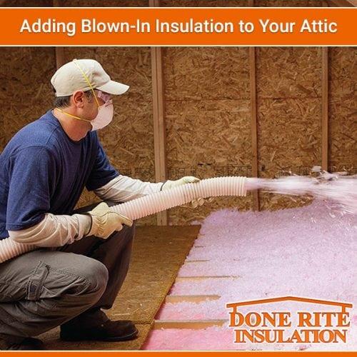 Adding Blown In Insulation To Your Attic Done Rite